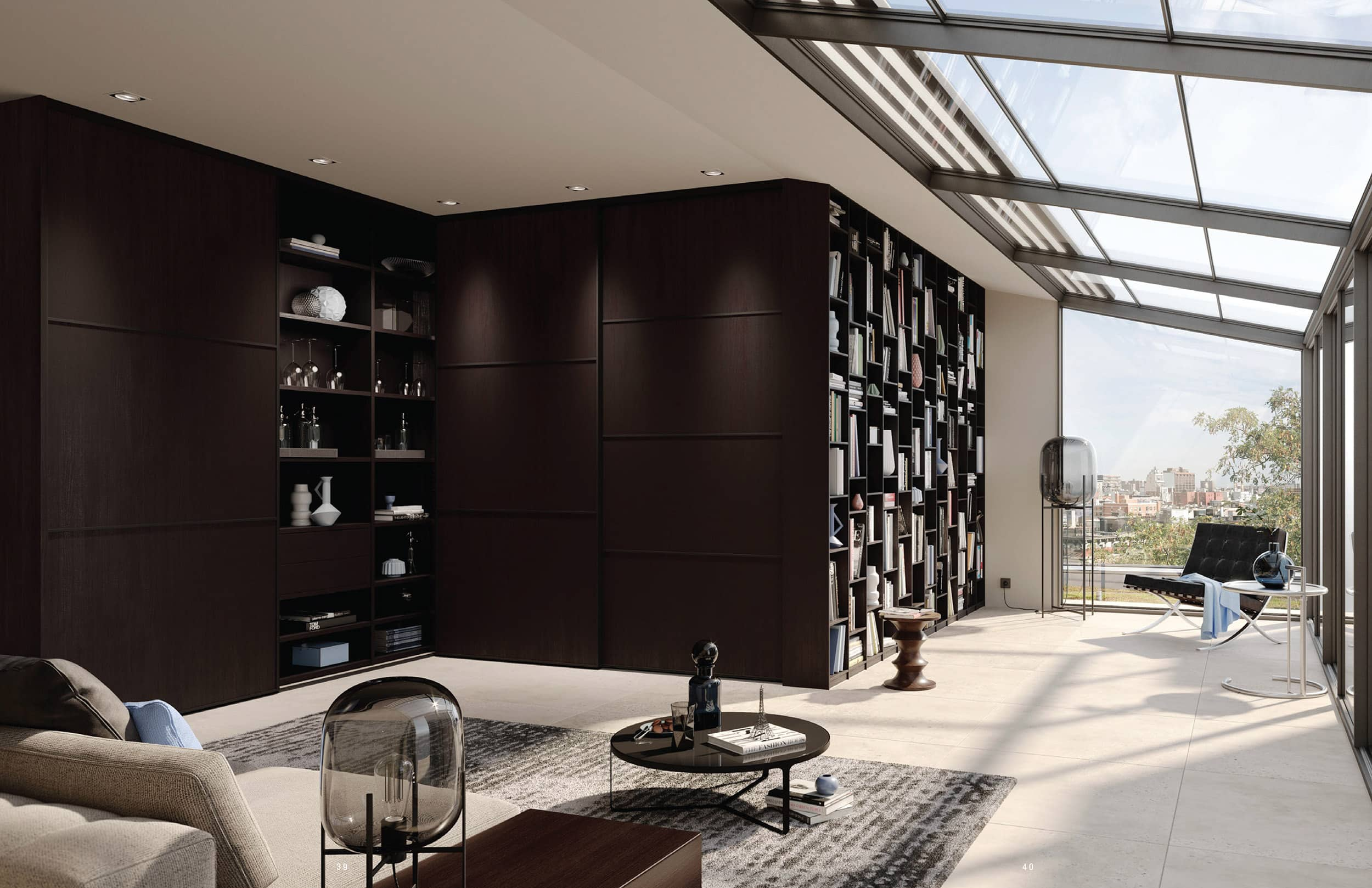 These wall systems by BauCloset deliver integrated storage that is better than freestanding shelves.