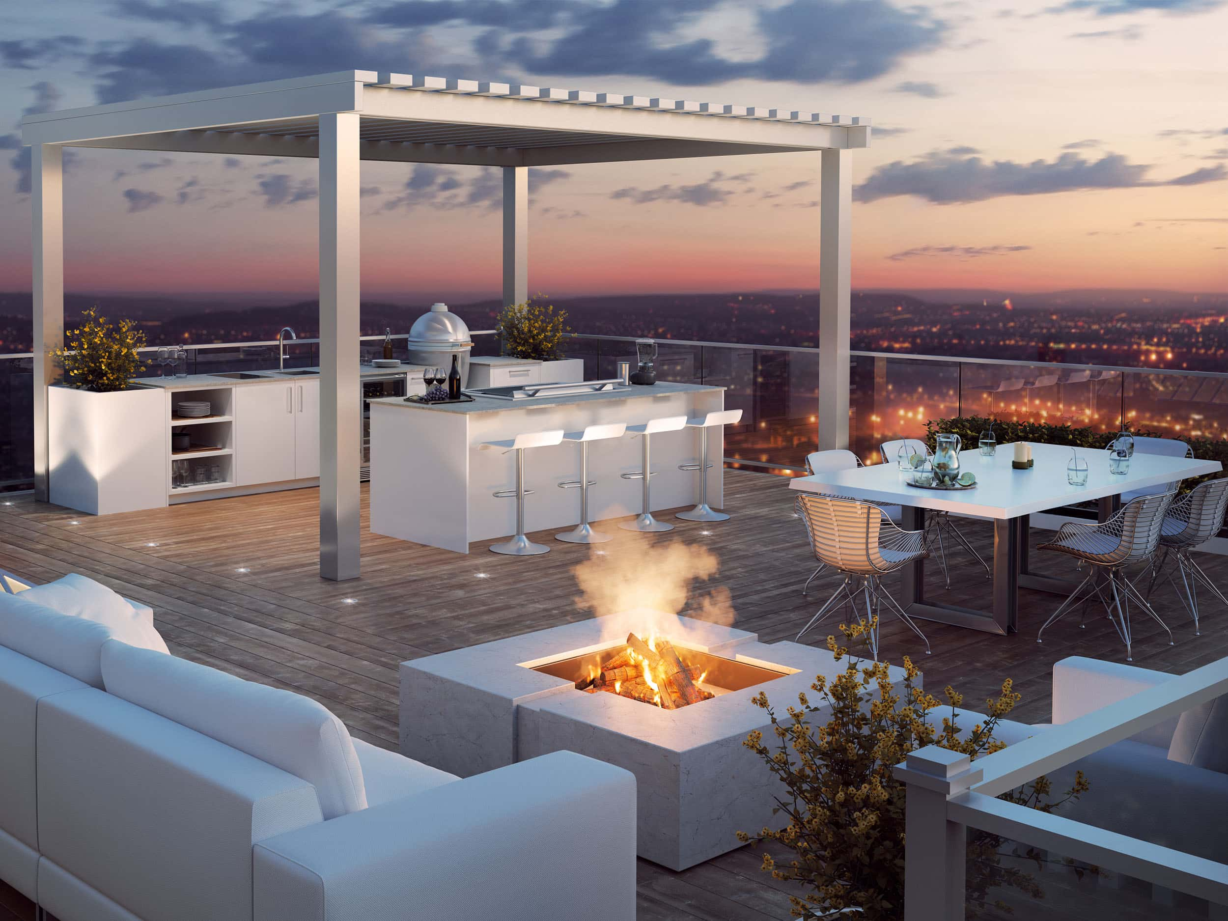 Enjoy home cooking in fresh air with this Outdoor Kitchen from Urban Bonfire and DCS.