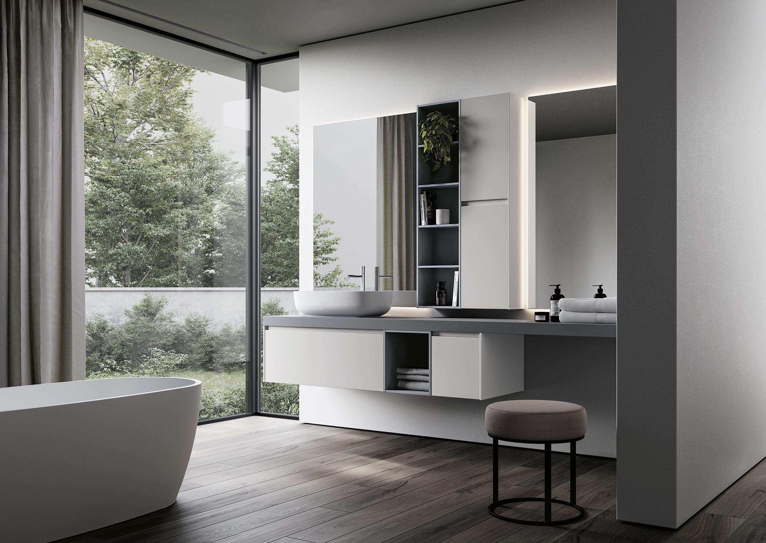 Enjoy modern bath cabinetry like this collection from Ideagroup